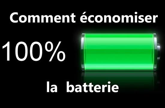 Comment économiser la  batterie de votre téléphone portable?