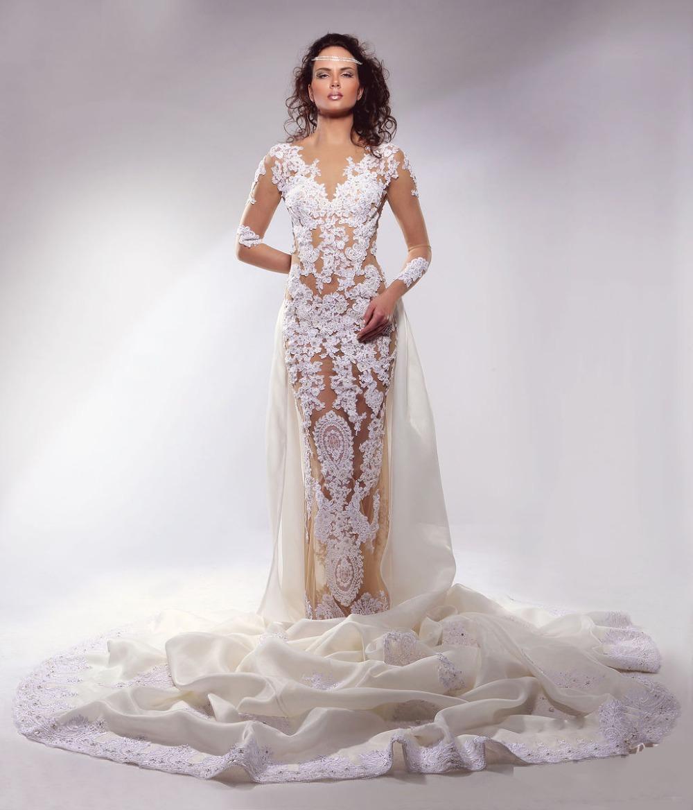 f7e94e12e2ab Wedding Dresses With Sleeves And Long Train