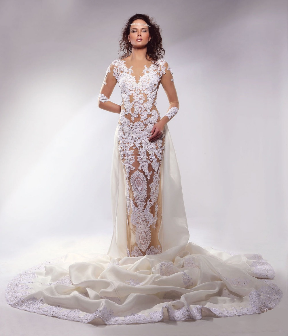 wedding dresses with sleeves and long train long train wedding dresses