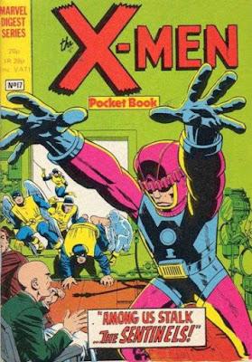 X-Men pocket book #17, the Sentinels