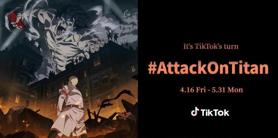 TikTok Launches Collaborative Campaign #AttackOnTitan Challenge