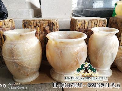 Vas Bunga Batu Onyx
