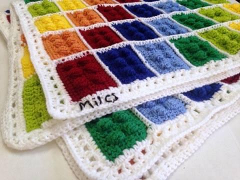 Crochet Lego Blanket (And Pattern Link!) - www.craftaboo.com