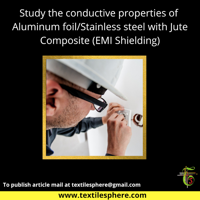 Study of conductive properties of Aluminum foil/Stainless steel with Jute Composite (EMI Shielding)