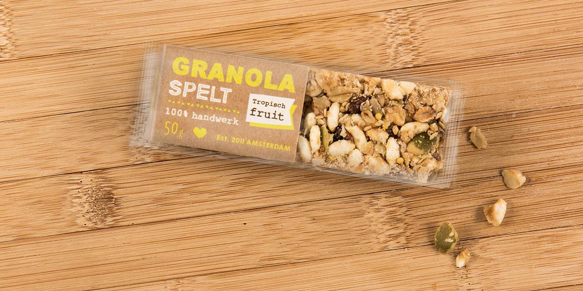 Granola Spelt Bar On Packaging Of The World Creative