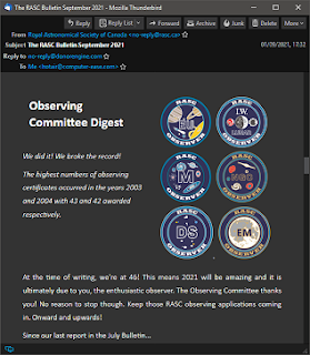 Obs Comm section of the Bulletin
