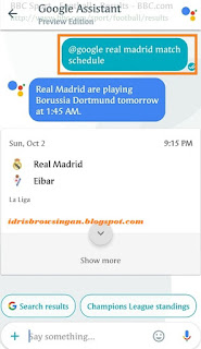 football schedule google asistant