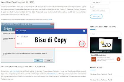 Cara mengatasi blog yang artikelnya tidak bisa di copy
