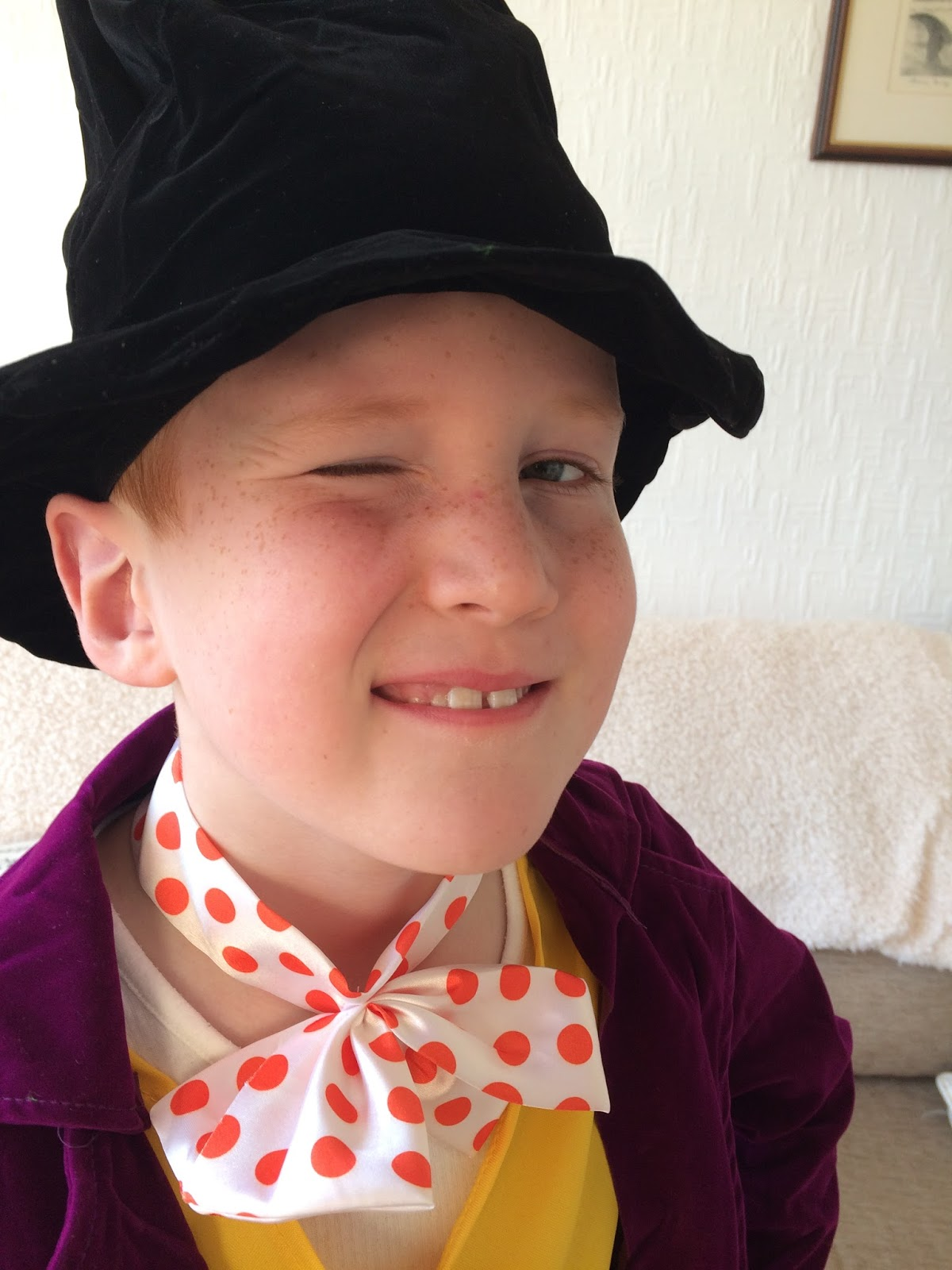 Ieuan as Willy Wonka