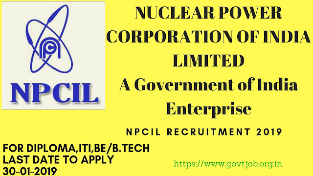 NPCIL Recruitment, Government Jobs ,Sarkari Nauakari