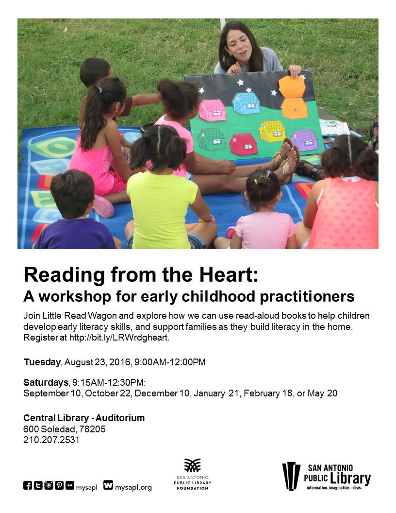 San Antonio Public Library Little Read Wagon New Workshop For Early