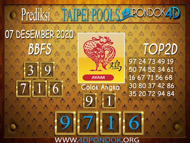 Prediksi Togel TAIPEI PONDOK4D 07 DESEMBER 2020