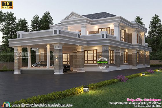 Residence design Colonial mix