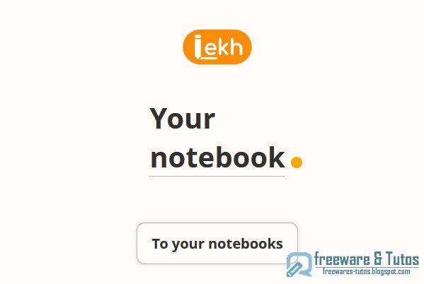 Lekh : un carnet de notes interactif en ligne
