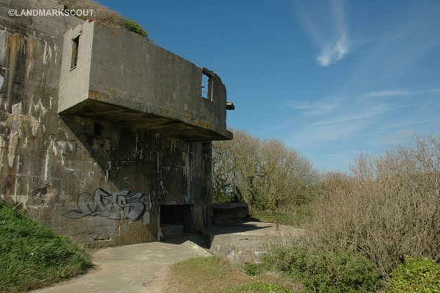 On top of the lower part of the complex at Battery Todt Audinghen Cap Gris Nez France