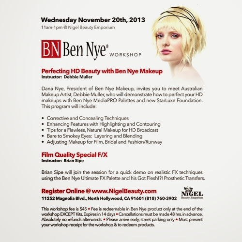 Ben Nye HD Beauty Class at Nigel's Beauty Emporium
