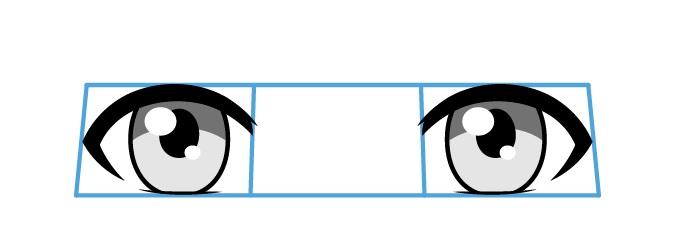 Mata anime dari bawah ke atas