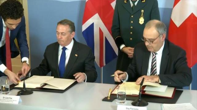 Reino Unido y Suiza firman un acuerdo comercial tras Brexit