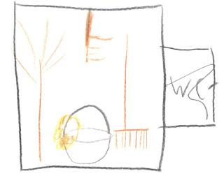 Ein Raum voll mit Besen, Eimer, Wischlappen - außen ein Schild WC, aber durchgekritzelt