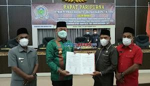 Gelar Paripurna, DPRD Setujui Nota Pengantar Ranperda APBD-P Tebo Jadi Perda