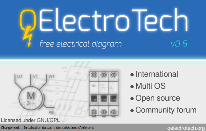 Programa para fazer projetos elétricos - QElectroTech versão atualizada