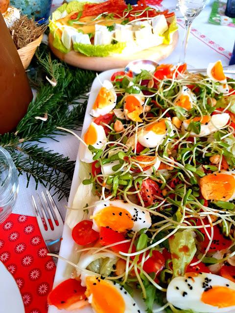 sałatka na imprezę, fit sałatka,zielona sałatka,pyszna sałatka na śniadanie,sałatka z jajkiem,sałatka na święta, lekka sałatka,z kuchni do kuchni,top blog kulinarny,