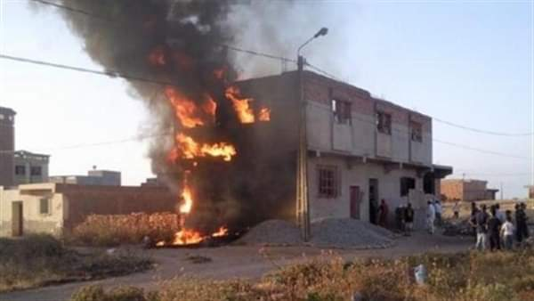 دون حدوث إصابات السيطرة على حريق اندلع في منزلين بسوهاج
