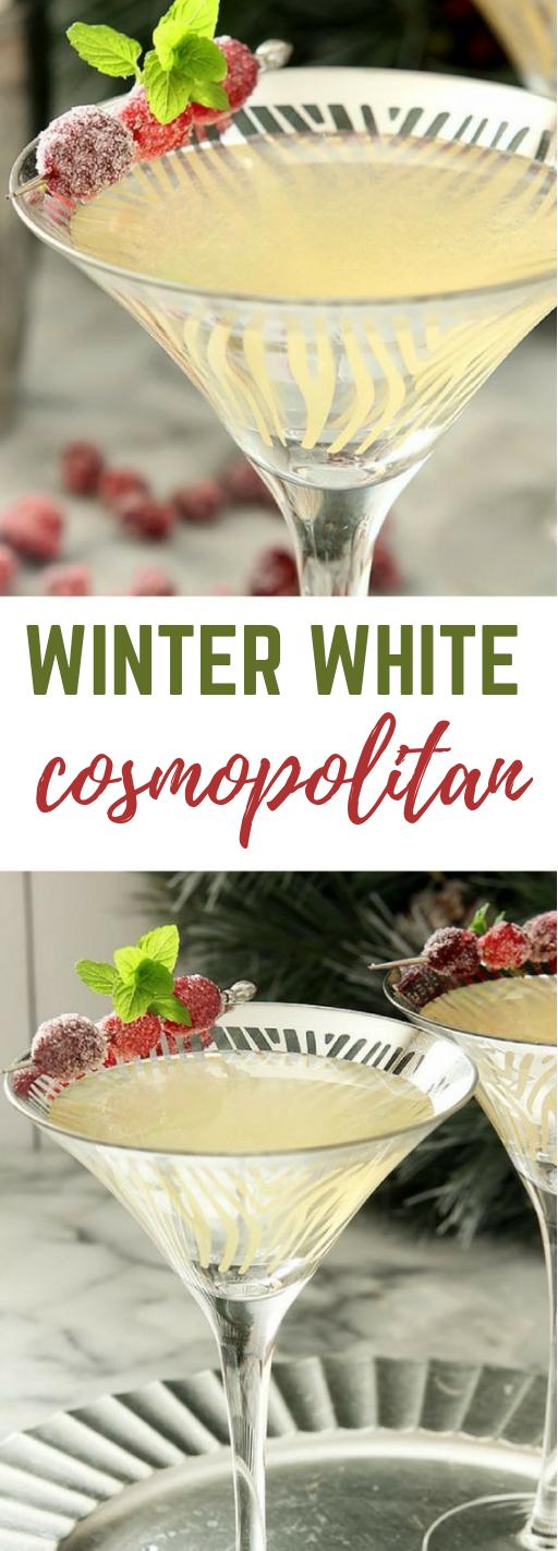 WINTER WHITE COSMOPOLITAN #drink #winter