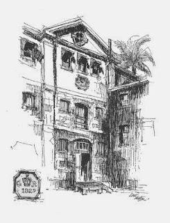 The Commissariat Store, Brisbane, sketched by U. White (Brisbane Sketchbook)