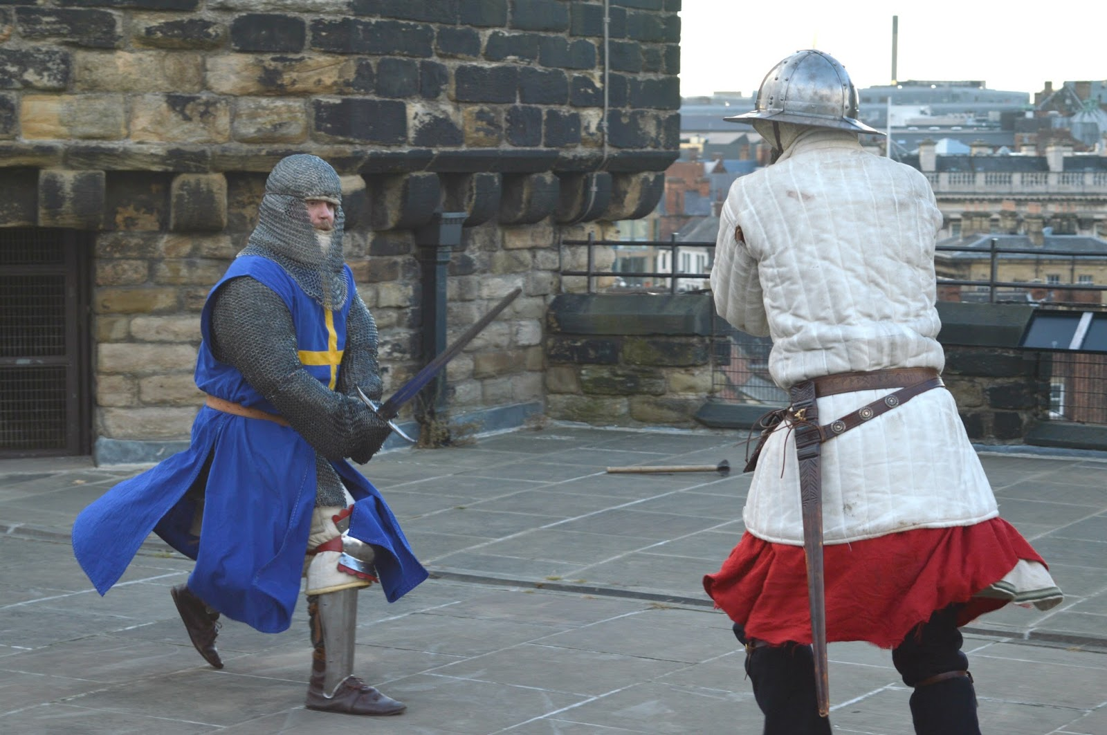 Experimental Diner - Newcastle Castle Sword Fight