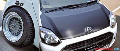 Gambar Modifikasi Velg Mobil Daihatsu Ayla Terbaru 2014