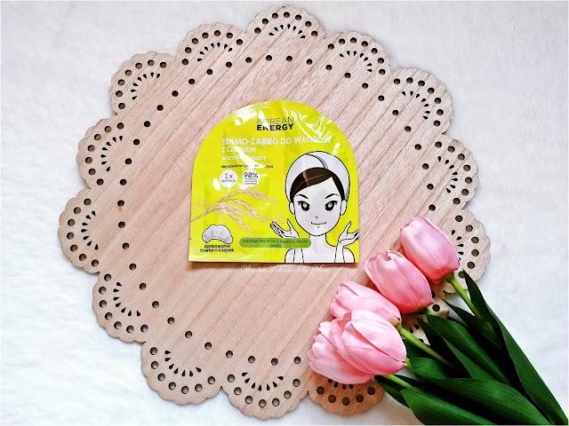 Korean Energy Termo - zabieg do włosów z czepkiem odżywczy, olej z kiełków ryżowych, biotyna