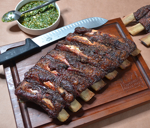 Beef Back Ribs with Chimichurri from The Offset Smoker Cookbook