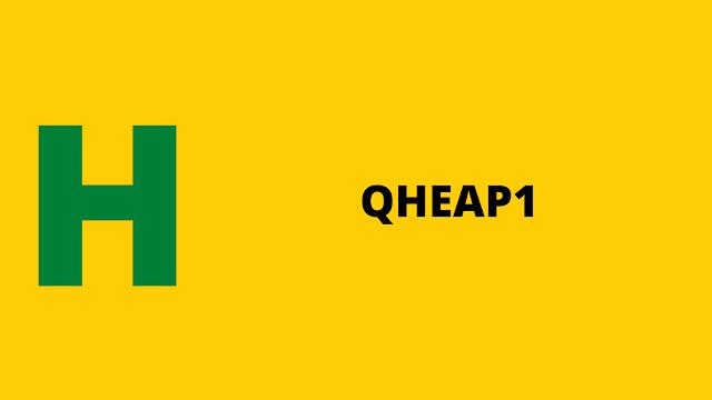 HackerRank QHEAP1 problem solution