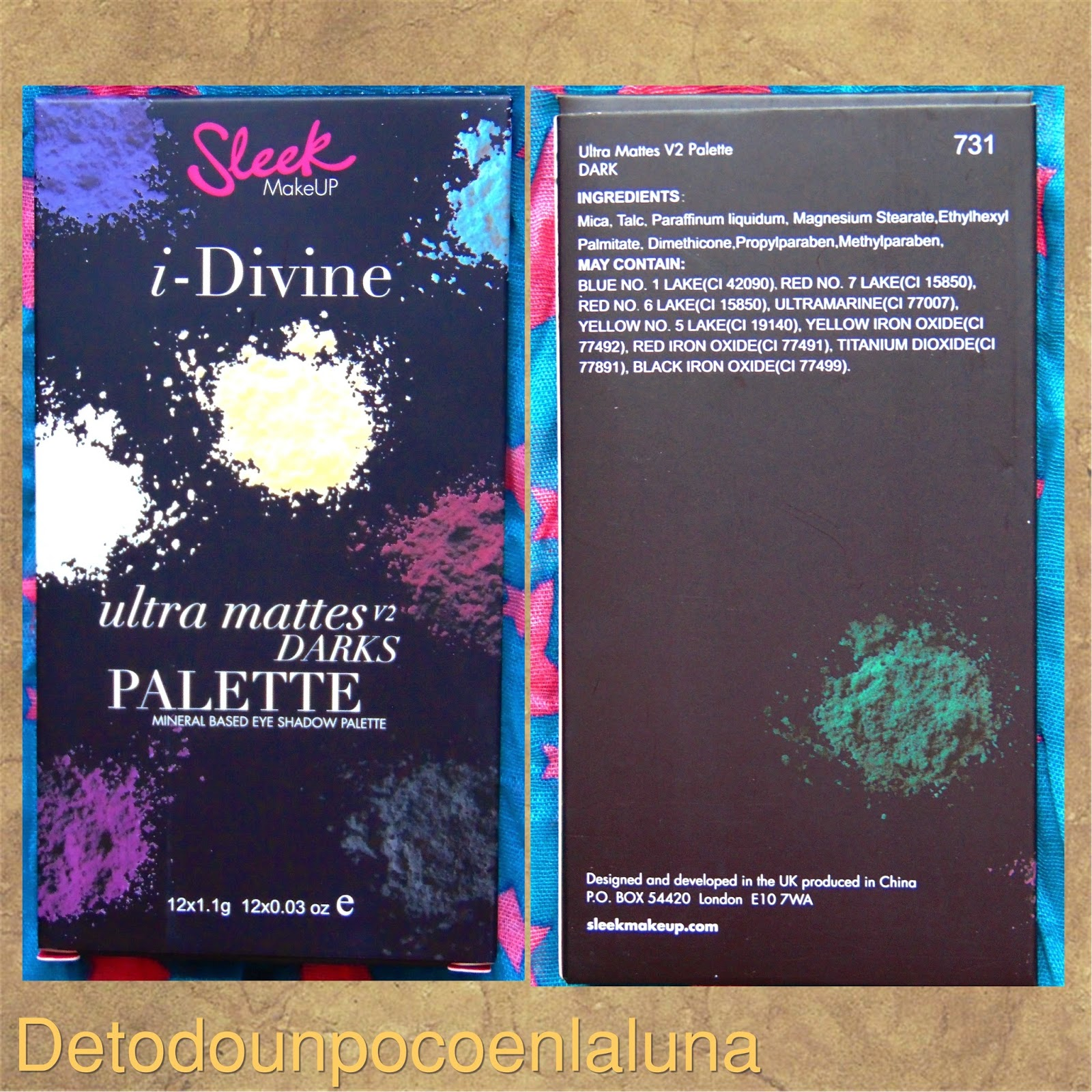 paleta ultra mattes darks de sleek