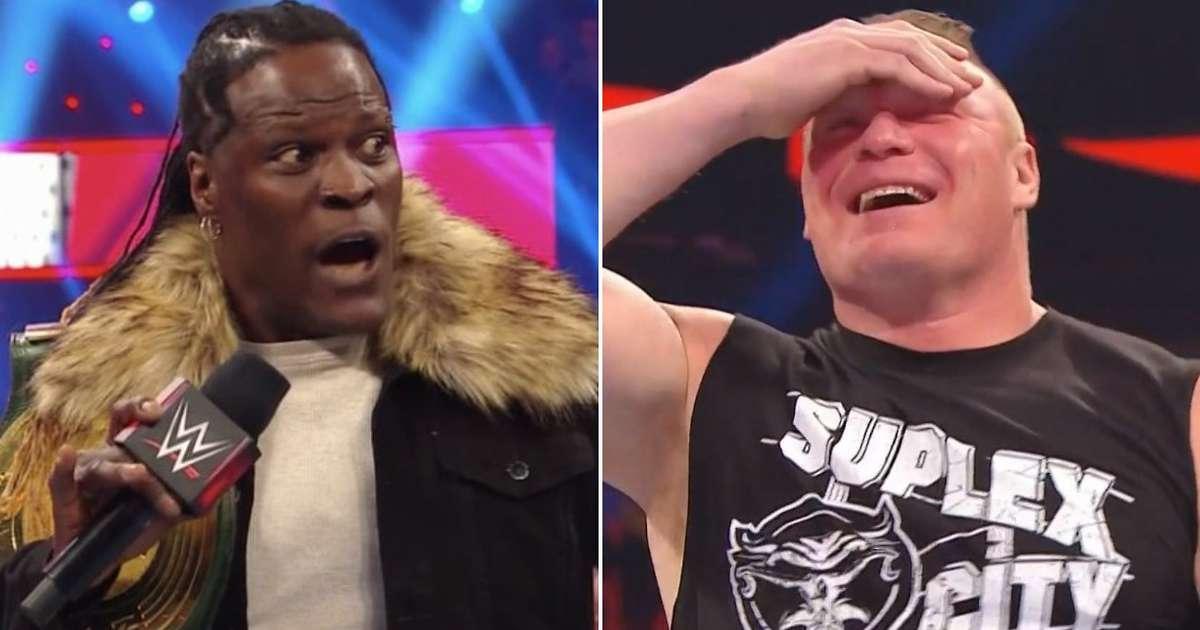 R-Truth revela que venceu uma aposta ao fazer Brock Lesnar sorrir no RAW