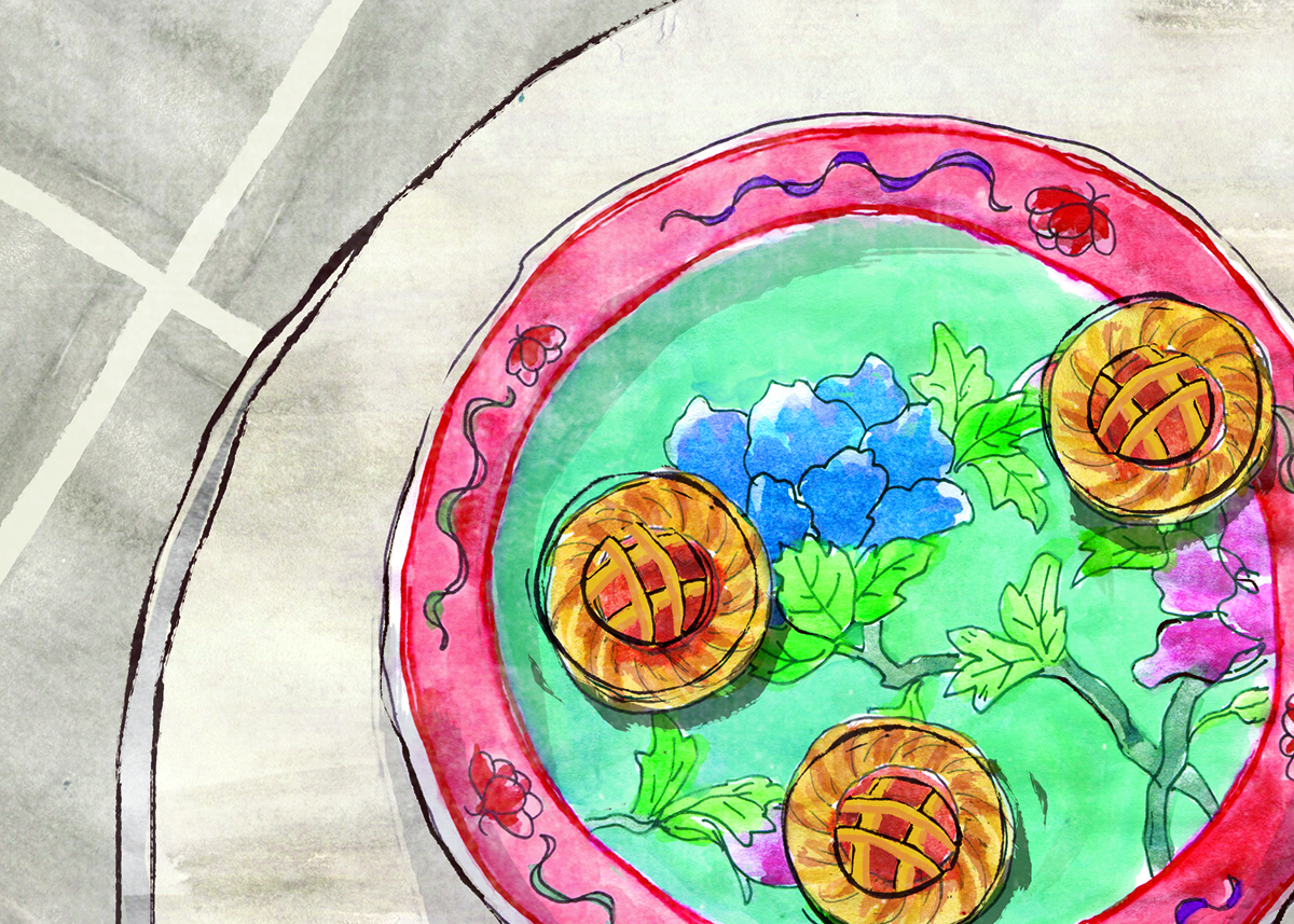 Nyonya Pineapple Tarts, Peranakan, Chinese New Year, ChineseNewYear, Lauren Monaco Illustration