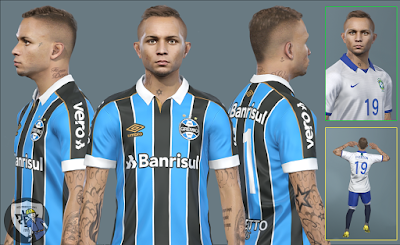 New faces updates for Pro Evolution Soccer  Update, PES 2019 Faces Éverton Soares by PR Facemaker