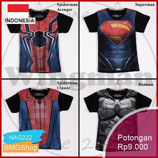 NAG222 Kaos Kostum Superhero Anak Lengan Pendek 3 12th Bmgshop