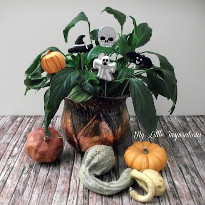 Decorazioni in gesso per Halloween - con zucche - My Little Inspirations