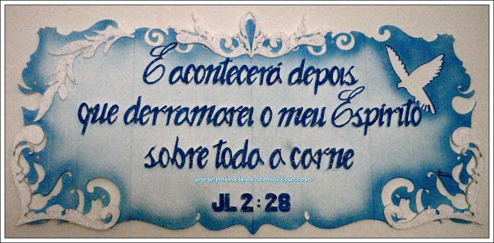 ornamentação de igreja evangélica /   Joel 2:28