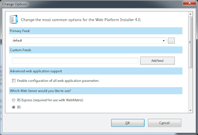 PHP 5.4 on IIS 7.5 Microsoft Web Platform Installer 4.0 Options