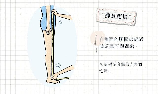 如何測量褲長