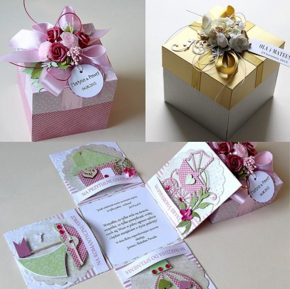 Bardzo dobra ślubne kartki-pudełka | Handmade | zBLOGowani TS03