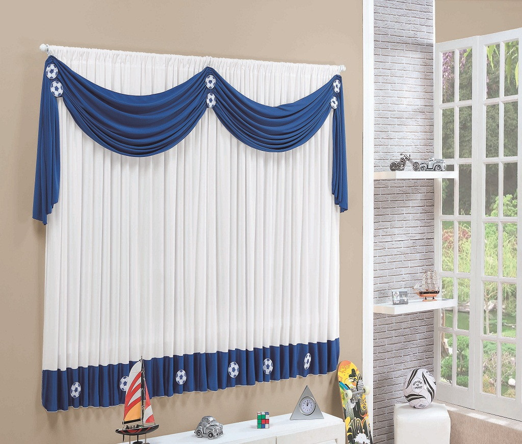 Curtains Design Ideas window Blue And White Curtin Designs Ideas For Window Treatment