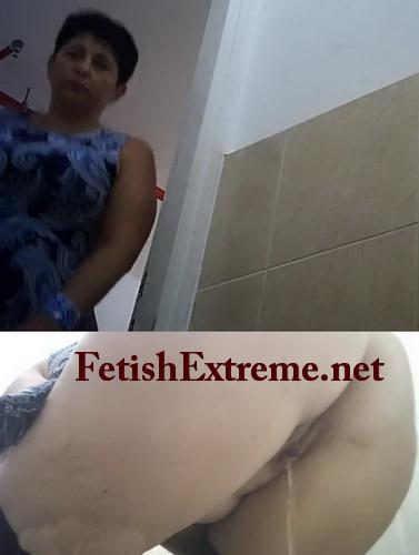 Hidden spy cam in public women's toilet filming pissing (Toilet in a public building 01)