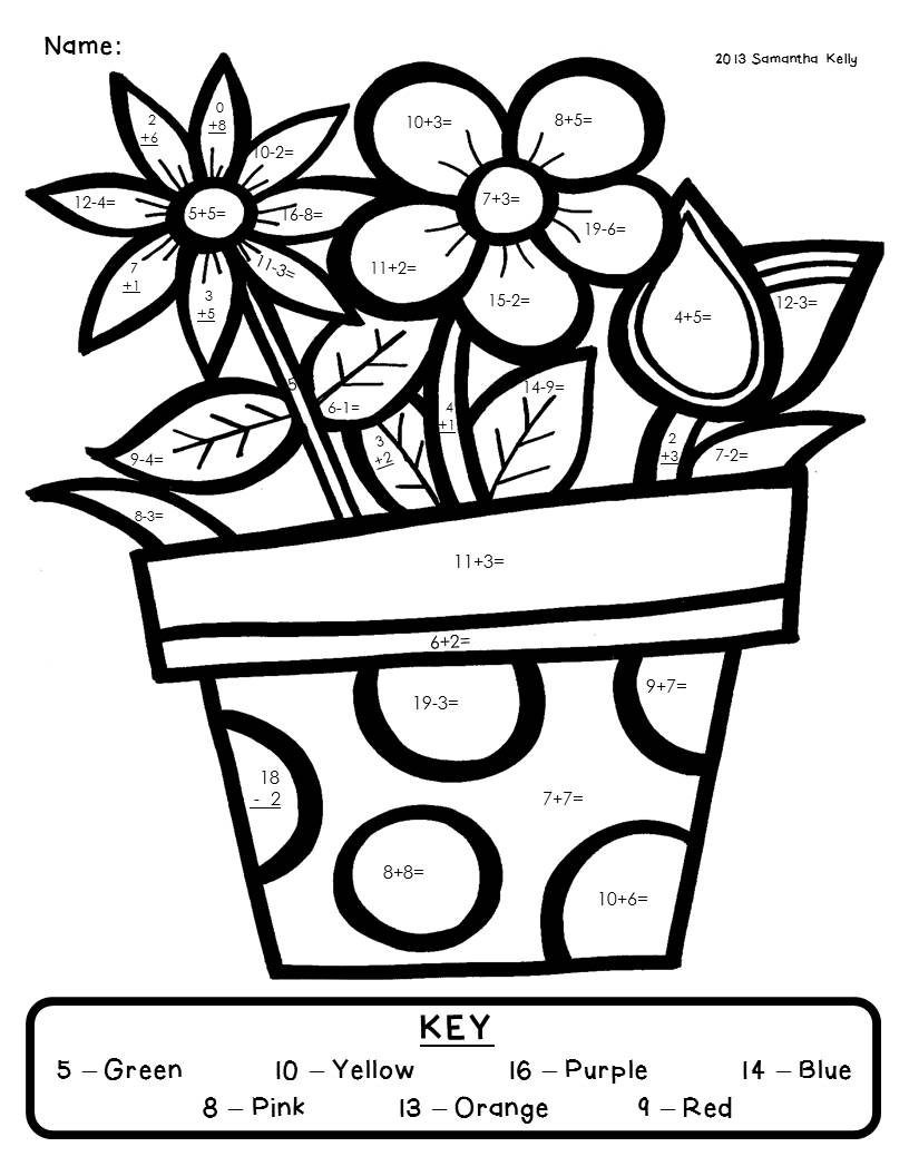 Coloring Worksheets For 2nd Grade : Mrs kelly s klass spring please and a freebie