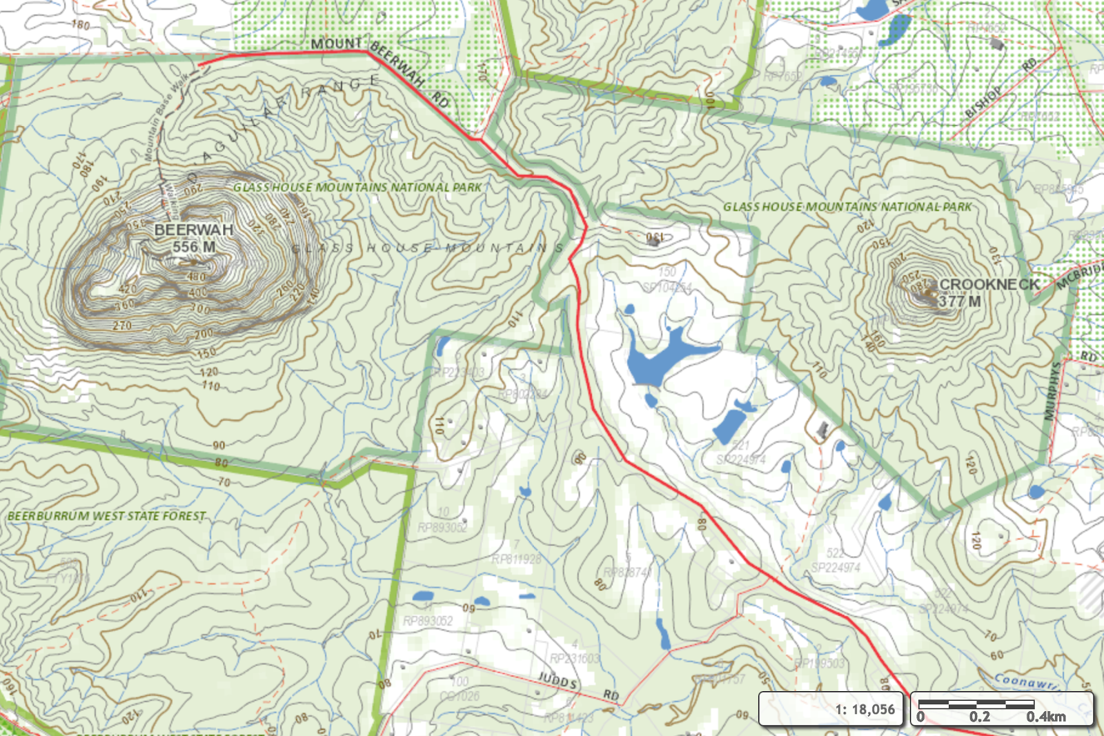 Glasshouse Mountains Traverse Plan A Running in the Rain