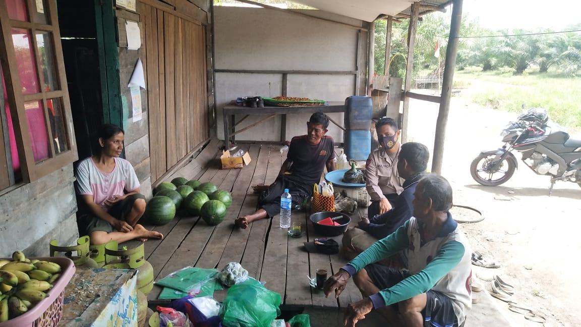 Jelang Pilkada Polsek Sebangau Kuala Ajak Masyarakat Jaga Kamtibmas