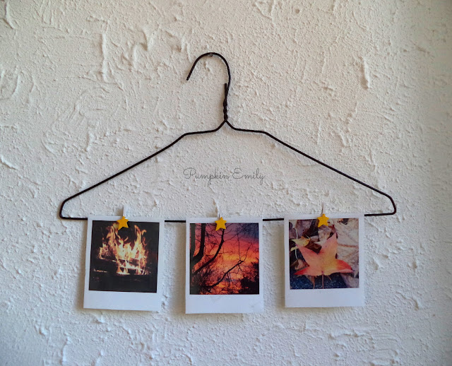 DIY Hanger Photo Display